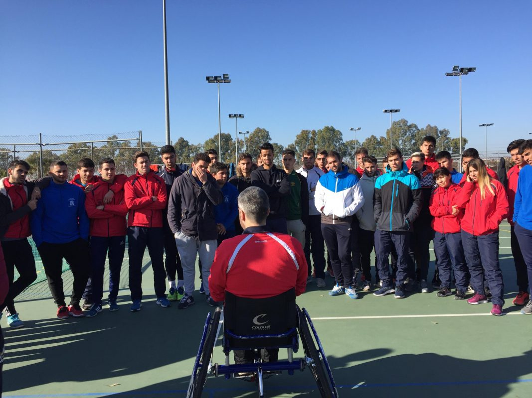 Prácticas con deportistas discapacitados