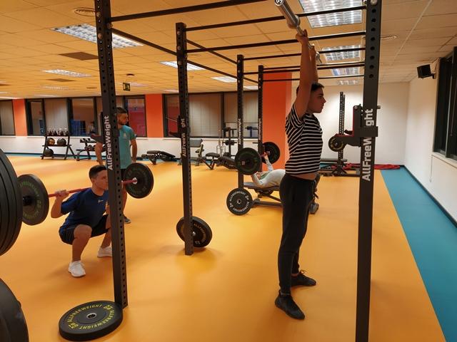 Actividades en el gimnasio