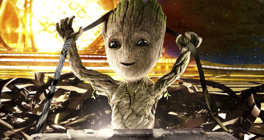 Groot, al ritmo de Mr. Blue Sky