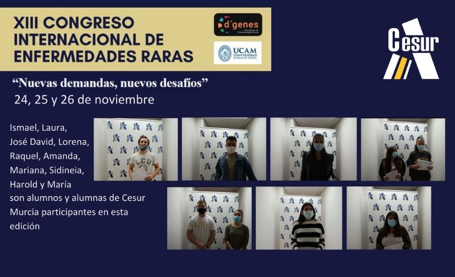 Alumnado de Cesur Murcia participa en el Congreso Internacional de Enfermedades Raras